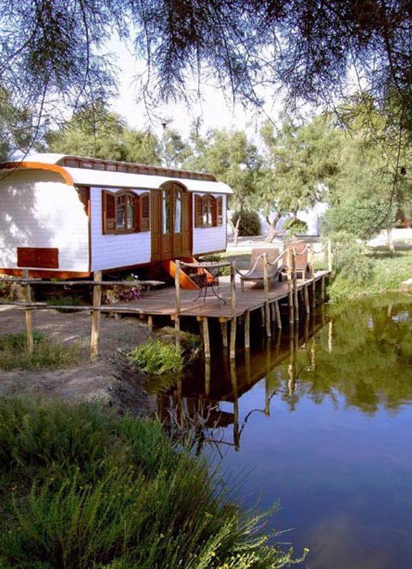 A caravan in the Camarque